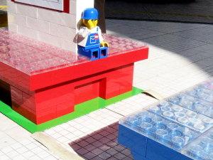 渋谷パルコ前|Legoベンチ