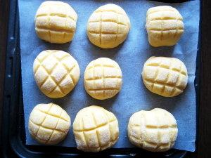 手作りパン♡メロンパン