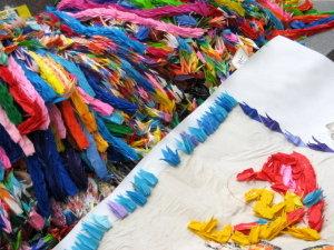 平和の塔♡飾られている千羽鶴
