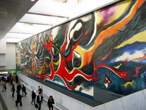 渋谷駅♡岡本太郎「明日の神話」
