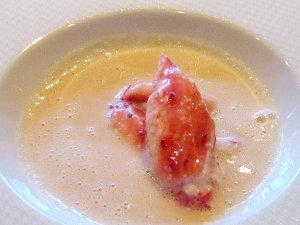 クリスマスランチ♡タラバガニのクリームスープ
