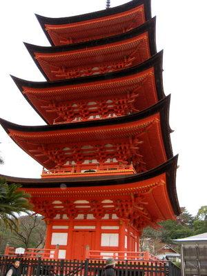 宮島初詣♡五重塔