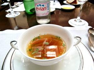 ランチ♡トマト味のコンソメスープ