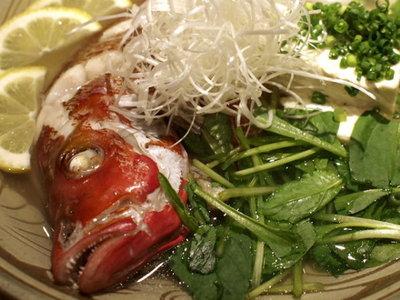 沖縄料理☆リトル沖縄 ミミジャー(ヒメフエダイ)のマース煮