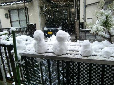 かわいい雪だるま♪
